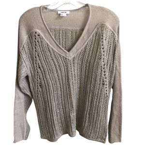 HELMUT LANG Loose Knit Sweater Beige -Size Small